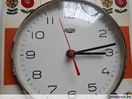 horloge murale cuisine ancienne horloge murale de cuisine ée 70 en très bon éta a