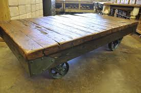 Industrial Cart Coffee Table Oklahoma Barn Market Industrial Cart Coffee Table