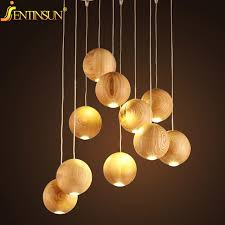 Wooden Pendant Lights Aliexpress Com Buy Modern Solid Wood Pendant Lamp Chinese Nordic
