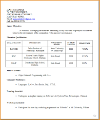 resume format for fresher 7 fresher resume format invoice template