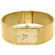 gold omega bracelet images Men 39 s vintage omega 17 jewel mechanical wrist watch w 18k yellow jpg