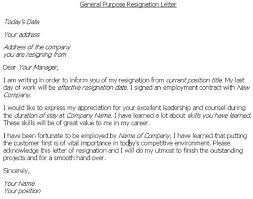 resignation letter format format sample best resignation letter