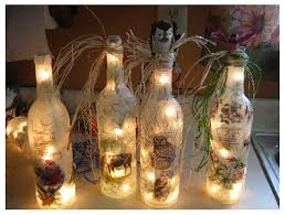 lights made out of wine bottles beautifully decorated lights made from recycled wine bottles how