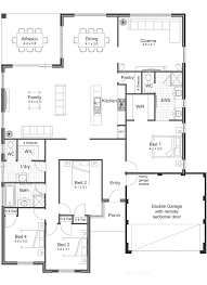 Pictures Of Open Floor Plans Beautiful 4 Bedroom Open Floor Plan Also Singlestoryopenfloorplans