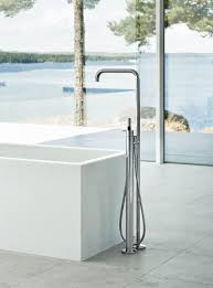 fs1 vola fs1 free standing bath mixer with hand shower high 1080 mm fs1