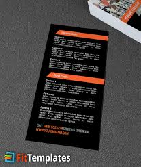 indoor cycling rack card template fit templates