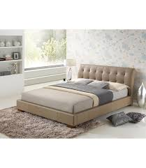 stone faux leather double bed frame