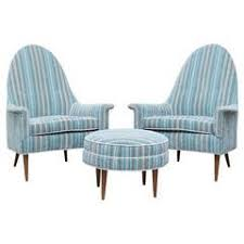 Teal Chair And Ottoman Craft Associates Lounge Chairs 55 For Sale At 1stdibs