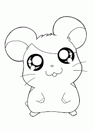 free all hamtaro characters coloring pages animal pages of
