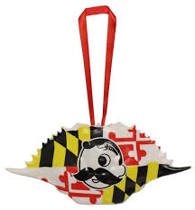 natty boh logo maryland flag style 1 crab shell ornament route