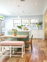 kitchen island with table attached table attached to island houzz