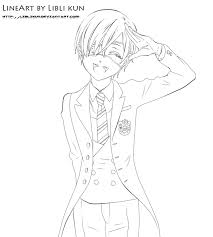 holiday coloring pages black butler coloring pages free