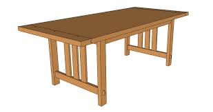 Arts And Crafts Dining Room Set Arts And Crafts Dining Table U2013 Downloadable Pdf Plans And Sketchup