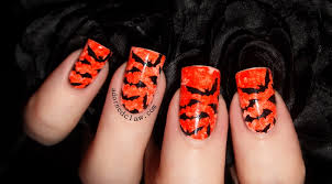 Halloween Nail Art Bats by 31dc2014 Day 2 Orange Nails The Adorned Claw