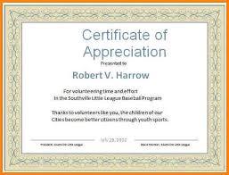 word certificate template certificates of appreciation templates