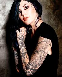 kat von d yeah she is a little trashy and over blown but i think