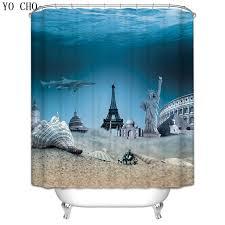 Discount Christmas Shower Curtains Aliexpress Com Buy Christmas Shower Curtain Beach Scenery