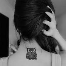 small girly owl tattoo design of tattoosdesign of tattoos