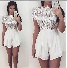 white romper jumpsuit romper lace romper white lace romper jumpsuit lace jumpsuit