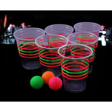 glow in the cups pong cups and balls black light effect