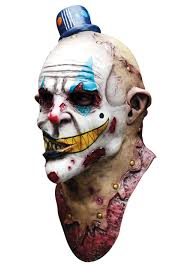 Scary Clown Halloween Costumes Men Mime Zack Mask