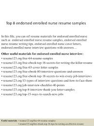 Nursing Resumes Samples by Top 8 Endorsed Enrolled Nurse Resume Samples Top 8 Endorsed