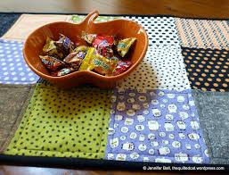 halloween table runner pattern easy charm square halloween table runner tutorial the quilted cat