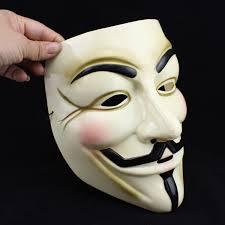V For Vendetta Mask V For Vendetta Mask Costume Guy Fawkes Anonymous Prop Resin