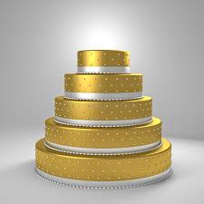 goldene hochzeitstorte goldene hochzeitstorte stock abbildung bild kuchen 40230799