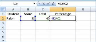 percentage calculator excel excel percentage formula