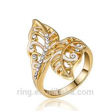 wedding ring models new gold ring models fashion gold rasta zircon ring leaf wedding