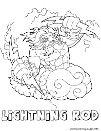skylanders giants air series2 lightning rod coloring pages printable