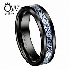 celtic wedding band queenwish mens jewelry black slivering celtic knot tungsten