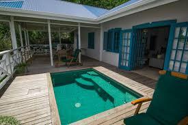 licorish villa wooden deck guest house tobago