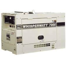 multiquip whisperwatt diesel powered generator contractors direct