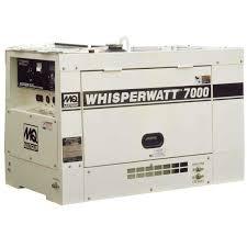 multiquip whisperwatt diesel powered generator contractors direct