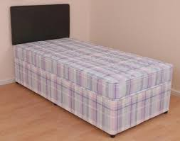Single Divan Bed With Drawers And Mattress by Single Divan Bed 3ft Orthopaedic Mattress Melissa Slide Drawer