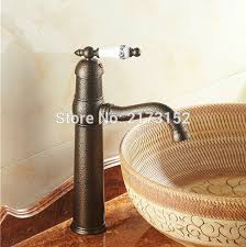 Free Shipping Tall Roman Bronze Bathroom Faucet European Antique Antique Bronze Bathroom Fixtures