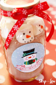 hot chocolate gift snowman hot chocolate gift free printable skip to my lou