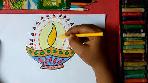 how to draw beautiful drawing how to draw beautiful colorful designer diya step by step