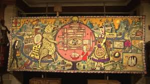 Grayson Perry Vanity Of Small Differences Rare Grayson Perry Tapestry On Show To Public West Country Itv