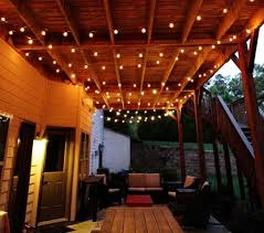decoration vintage patio ceiling lighting wrapped on wooden