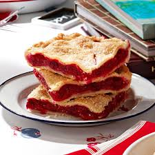 raspberry recipes raspberry pie squares recipe taste of home