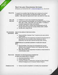 Resume Template Software by Engineering Resume Template 18 Software Engineer Intern Sle