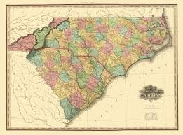 Map Of Charleston South Carolina Old State Map North Carolina South Carolina 1825