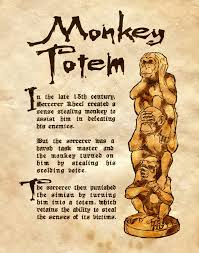 monkey totem by charmed bos on deviantart i love these and