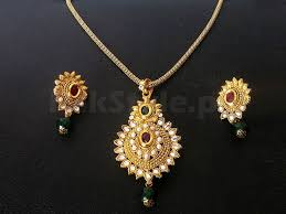 golden fashion necklace images Golden fashion jewellery set price in pakistan m008764 prices jpg