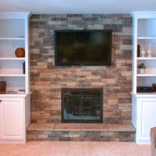 Stacked Stone Around Fireplace by Mountain Stack Stone Fireplace Picture Gallery North Star Stone