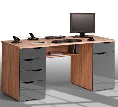 Buy Computer Desk by Mason Computer Work Station In Sonoma Oak And Grey Gloss Work