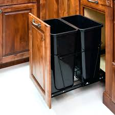 kitchen cabinet trash can ingenious inspiration 23 rev a shelf can